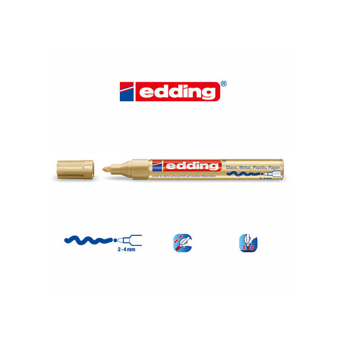 Edding 750 paint marker, 2-4mm, Gold