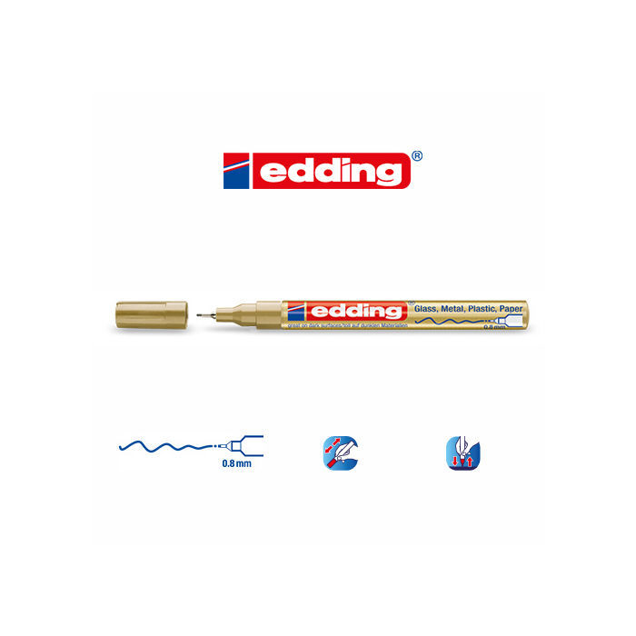Edding 780 paint-marker, 0,8mm, Gold