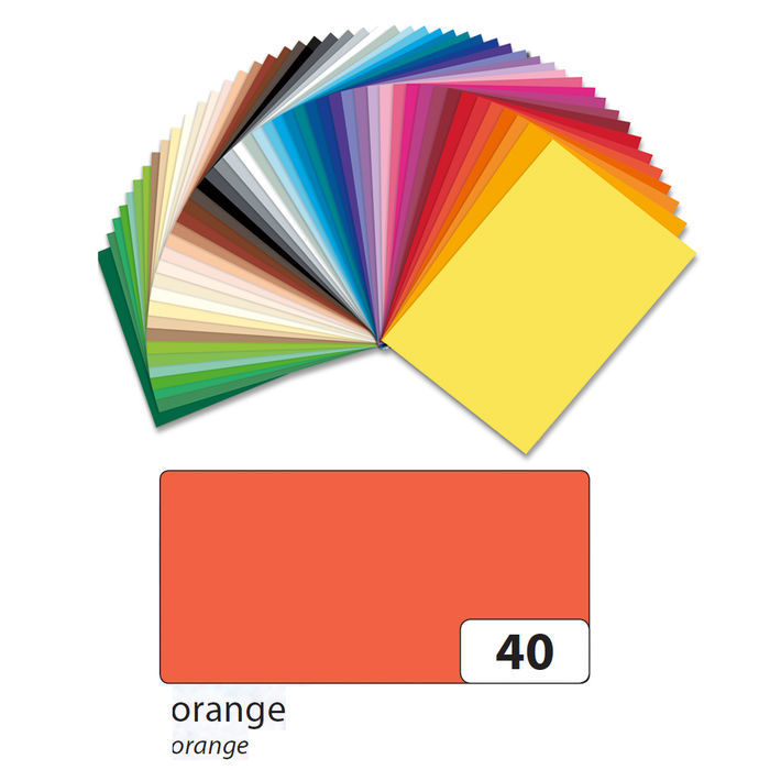 Bastelkarton 220g/m², A4, orange,100 Blatt