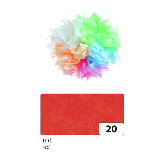 Rot 26 Bögen Seidenpapier 50x70 cm