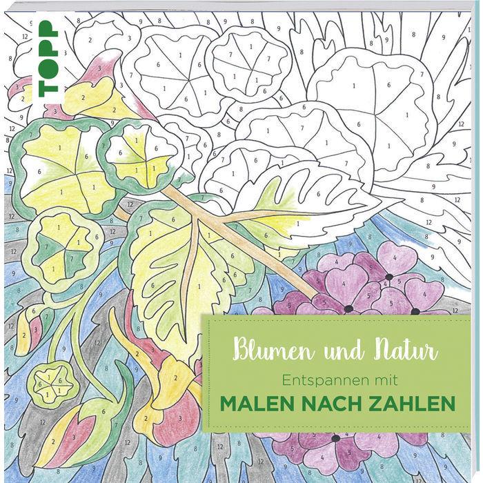 Sale Buch Malen Nach Zahlen Blumen Und Natur Bücher Creatives