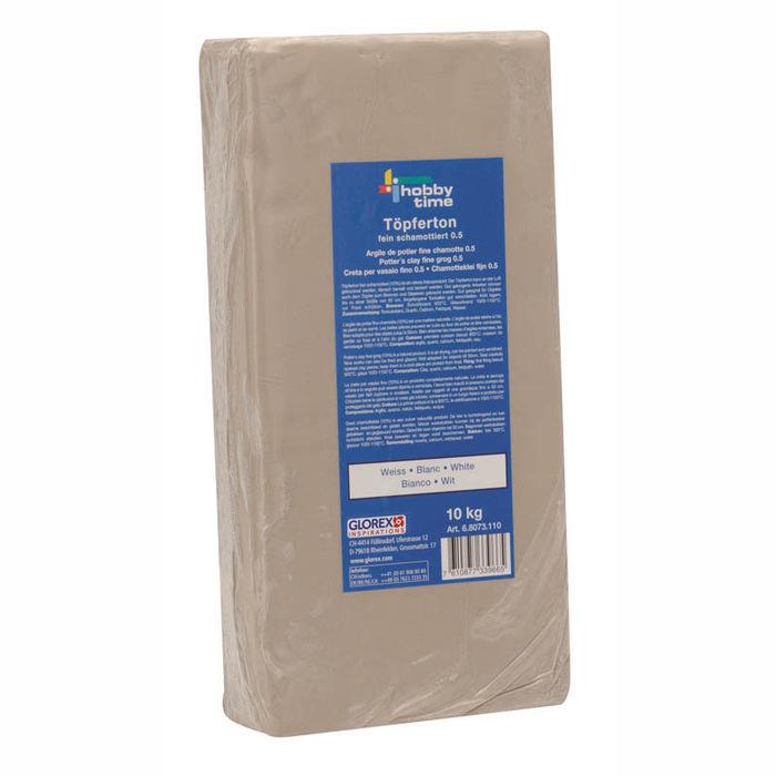 Ton Lufttrocknend glorex töpferton schamottiert 10kg weiss tonmassen ton glasuren