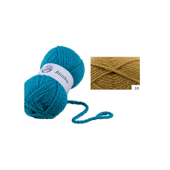 SALE Strickwolle Alaska, 100g Fb. 10, Ocker