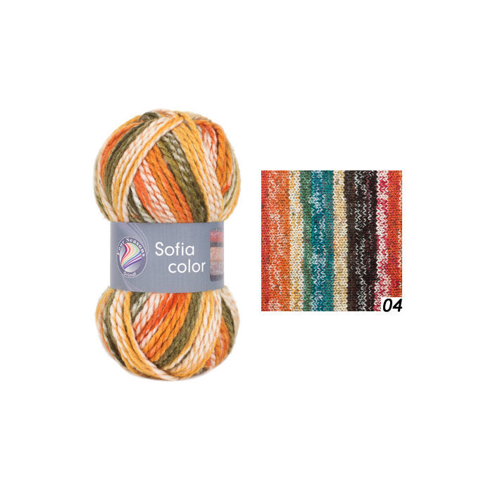 SALE Strickgarn Sofia color, 50g Fb. 04, Paper