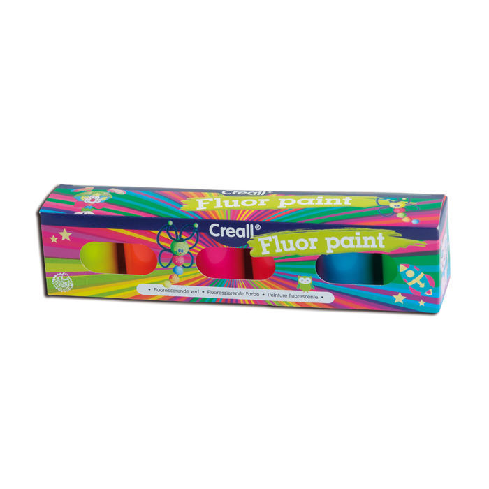 SALE Creall Fluor-Farben Set, 6x 20ml