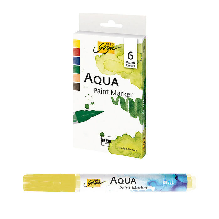 Solo Goya Aqua Paint Marker Warm Color 6er Set
