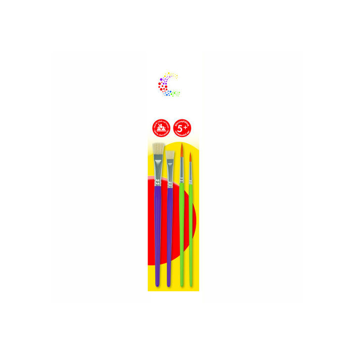 Marabu mara Kinderpinsel-Set, 4 teilig