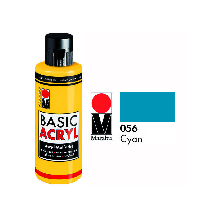 Marabu Basic Acryl 80ml, Cyan
