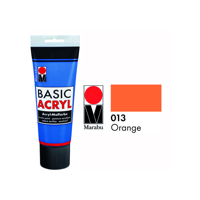 Marabu Basic Acryl 225ml, Orange