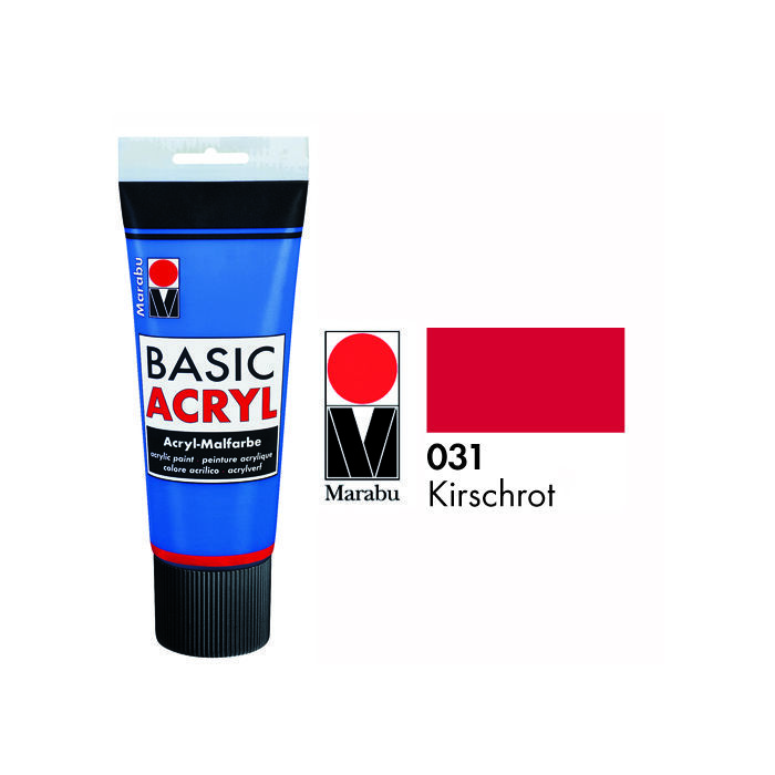 SALE Marabu Basic Acryl 225ml, Kirschrot