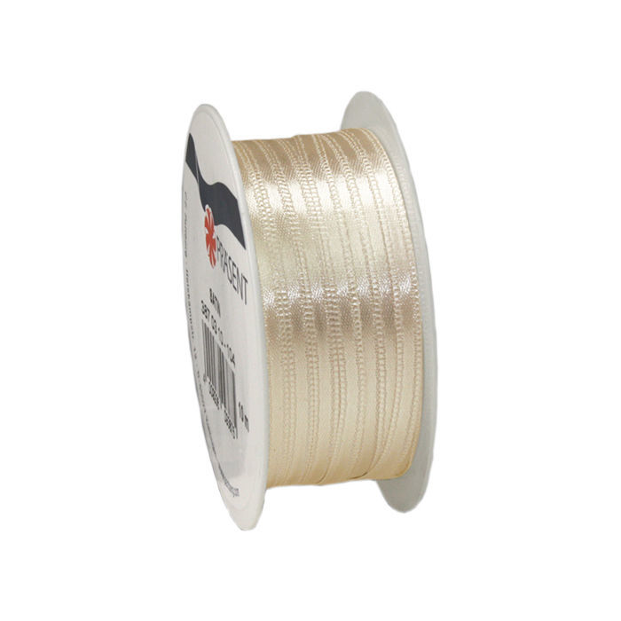 Satinband, B: 3mm L: 10m, Creme