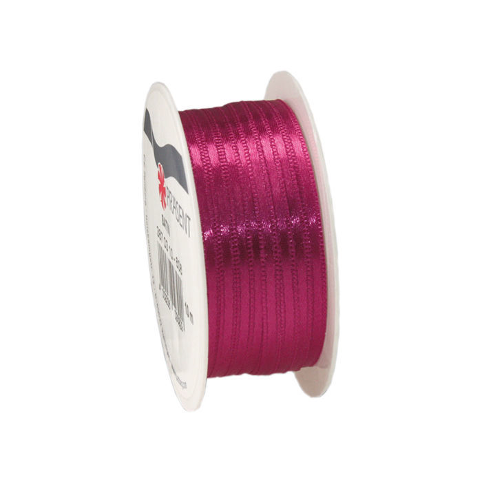 Satinband, B: 3mm L: 10m, Magenta