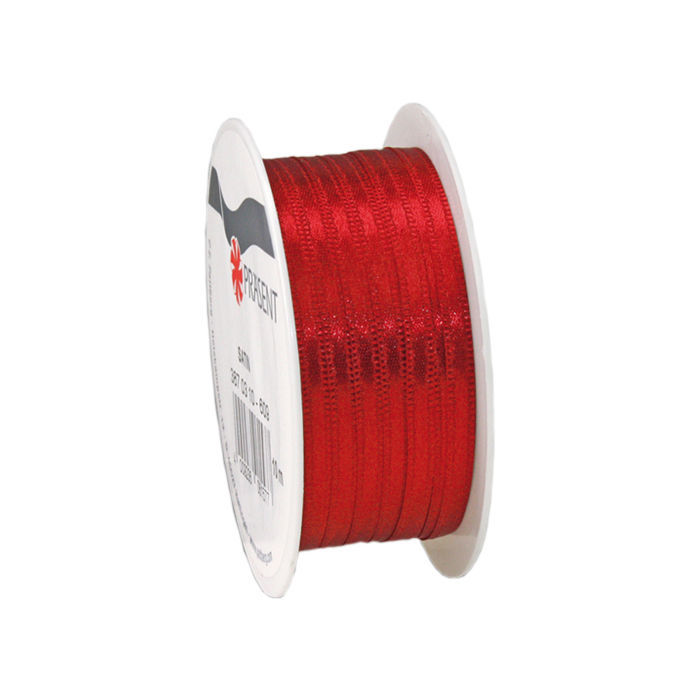 Satinband, B: 3mm L: 10m, Rot