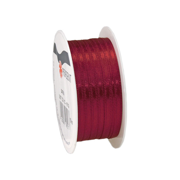 Satinband, B: 3mm L: 10m, Bordeaux