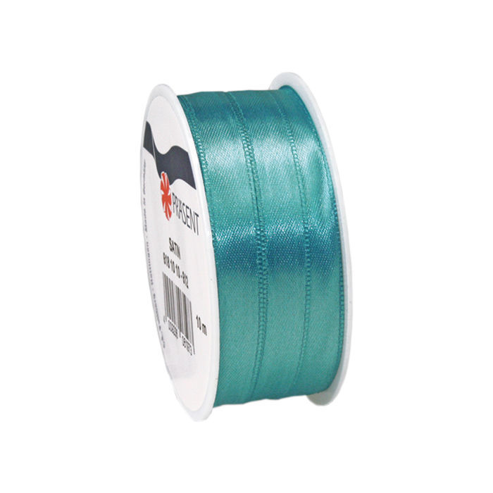Satinband, B: 10mm L: 10m, Aquamarin