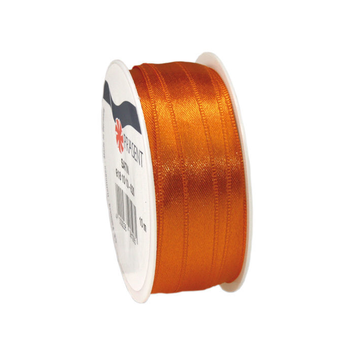 Satinband, B: 10mm L: 10m, Orange