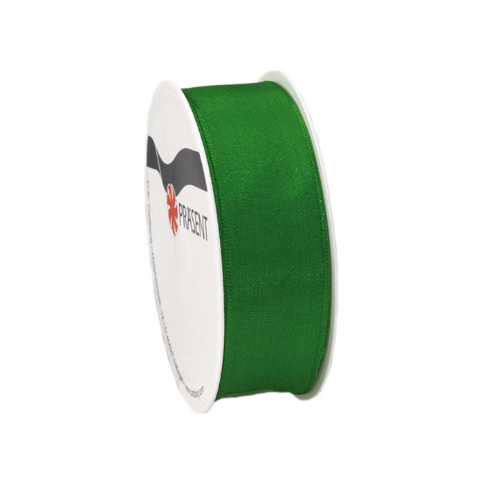SALE Seidenband mit Draht, 25mm x 3m, Grün - Party-Dekoration Grün ...