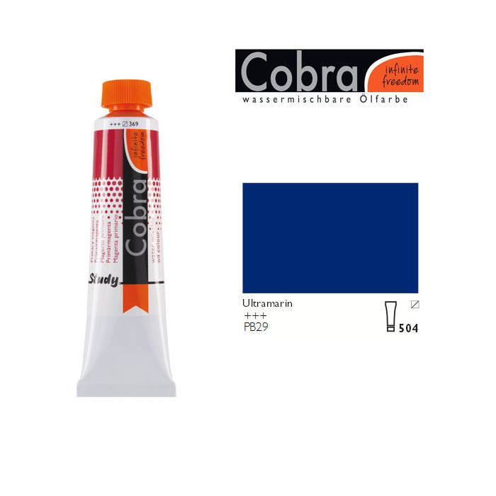Cobra Study Ölfarbe, 40ml, Ultramarin