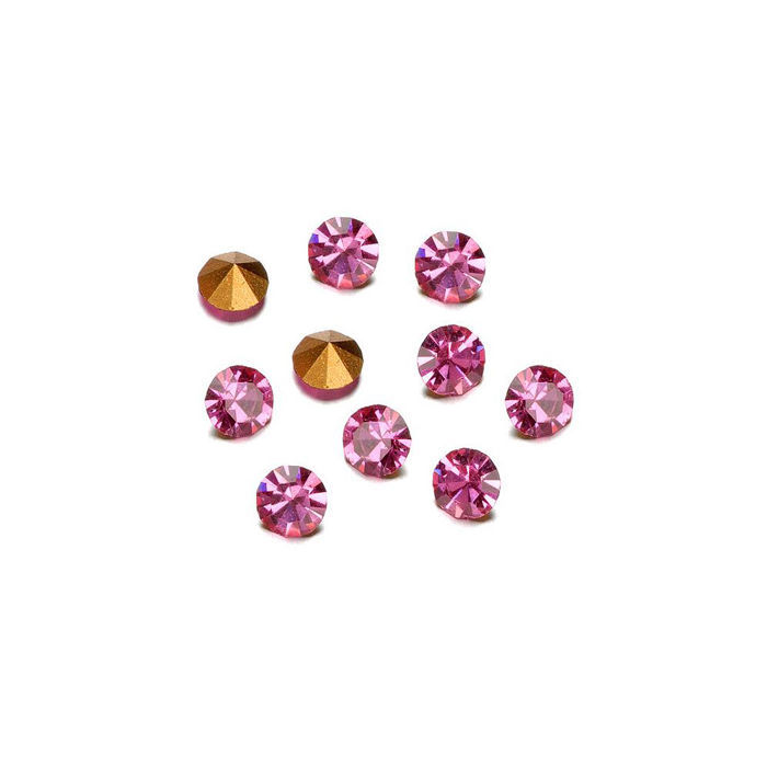 SALE DeCoRé Strasssteine rose, ca. 3,2mm, 45 St.