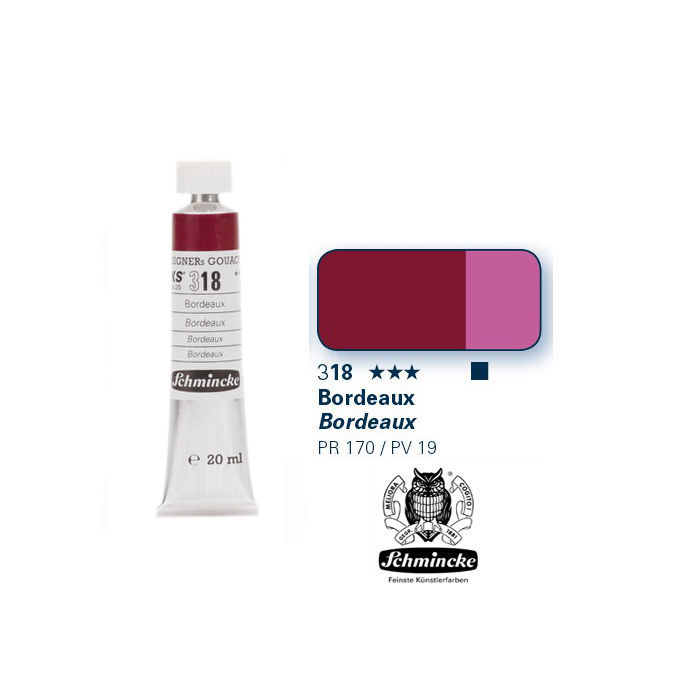 HKS Designers  Gouache, Bordeaux, 20 ml