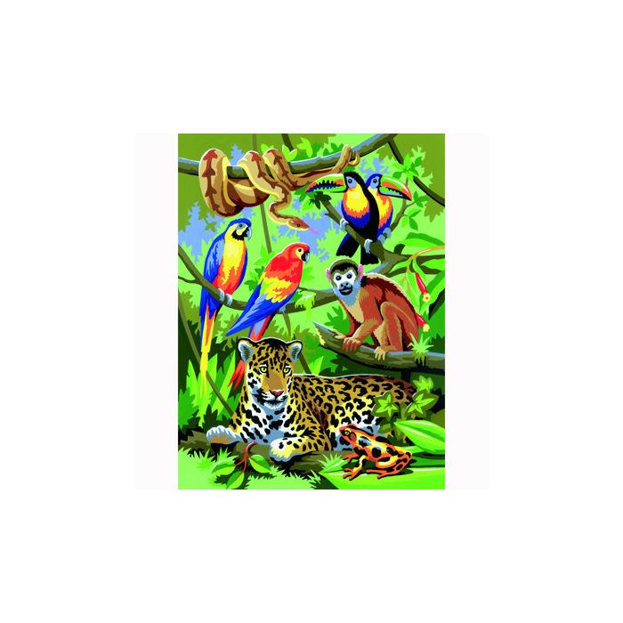 Malen nach zahlen 22 2x29 8 cm dschungel malen nach for Dschungel malen