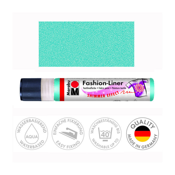 Marabu Fashion-Liner, 25 ml, Schimmer-Karibik