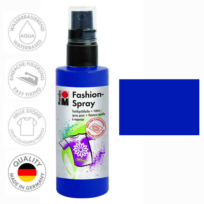 Marabu Fashion-Spray, 100ml, Nachtblau