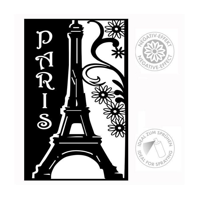 Marabu Silhouette Schablone, A4, Paris - Marabu Silhouette ...