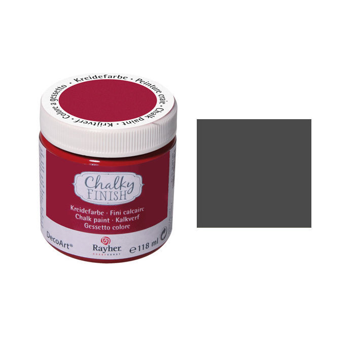 Chalky Finish, Dose 118ml, anthrazit