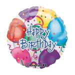 Folienballon Happy Birthday Balloons, 45 cm