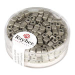 Metallic-W�rfel, matt, 3,4 mm, 15g, brill.silber
