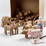 60 sort. Mini Creativ Tiere H: 8-12 cm