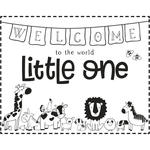 NEU Stempel Welcome Little one, 10x8cm