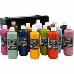 Textile Color, 15x500 ml, sort. Farben