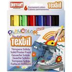 Playcolor Textil Marker, 6 Farben Sortiert