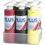 NEU Plus Color Bastelfarbe-Farbschule 6x250 ml