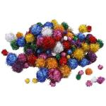 NEU Pompons, D: 15-40 mm, ca. 400 sort., 400 g