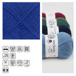 Strumpfwolle Hot Socks uni 50, 50g, royalblau