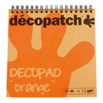 Decopad, 12 x 4 Blätter, 15cm x 15 cm, orange