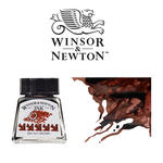 SALE Windsor & Newton Tusche 14 ml, Dunkelbraun