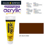 SALE Acrylic Acrylfarbe, 120ml, Burnt Umber