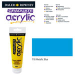 Acrylic Acrylfarbe, 120ml, Metallic Blue