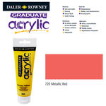 SALE Acrylic Acrylfarbe, 120ml, Metallic Red