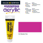 Acrylic Acrylfarbe, 120ml, Metallic Pink