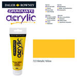 SALE Acrylic Acrylfarbe, 120ml, Metallic Yellow