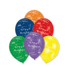 SALE Luftballon Happy-Birthday, 8 St�ck, sortiert