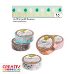 Washi Tape Klebeband, HOTFOIL gold Ananas