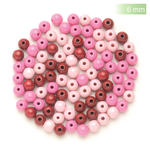 NEU Create it Easy Holzperlen-Mix, 6 mm, 118 Stk., rosa