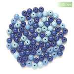 NEU Create it Easy Holzperlen-Mix, 6 mm, 118 Stk., blau