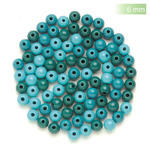 NEU Create it Easy Holzperlen-Mix, 6 mm, 118 Stk., türkis